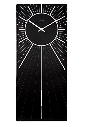 NeXtime Wanduhr HEAVENLY, rechteckig, Spiegel-Glas, mit Pendel, 70 x 30 cm