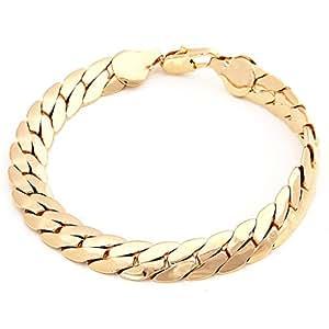 Orangelove 18K Men's Gold Plated Bracelet Chain: Amazon.co ...