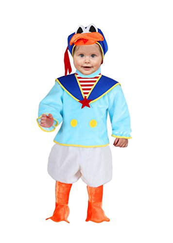 Vestito costume maschera di carnevale primi passi - paperino - taglia 13/18 mesi - 63 cm