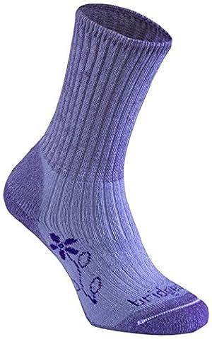 Bridgedale Women's Merinofusion Trekker Socks, Violet, 6-8.5