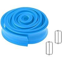 D DOLITY Correa de Resistencia de Material TPR 4 Colores Opcionales Tamaño Aprox 250 X 3.6cm Adecuado para Yoga Pilates Zumba - Azul