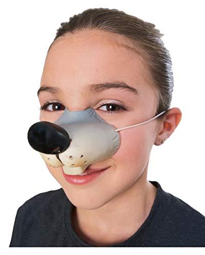 Horror-Shop Süße Mäuse Nase als Kostüm-Accessoires für Deine Tier - Maus Kostüm Nase