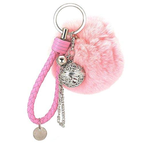 Hosaire 1x Keychain Taschenanhänger Schlüsselanhänger Multifunktion Plüschball Anhänger Schlüsselbund Handtaschen Anhänger Deko KFZ Rucksack Schlüsselringe