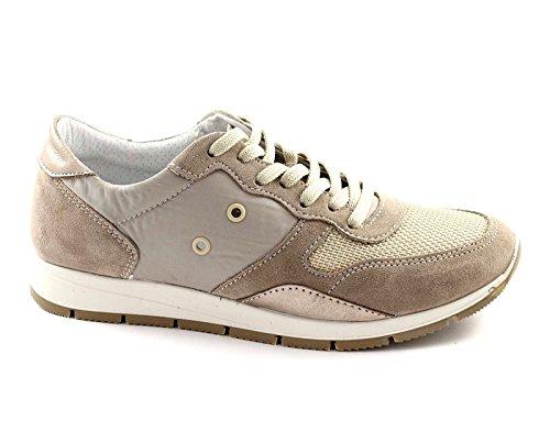 IGI & CO 38030 vison chaussures femme chaussures en daim lacets tissu Beige