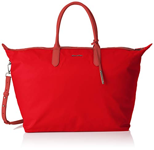 Marc O'Polo Damen Marina Umhängetasche, Rot (Pomegranate Red), 20x39x65 cm - Roter Weekender