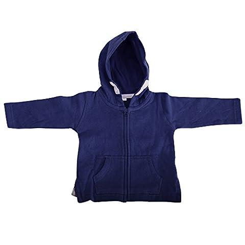 Babybugz Unisex Baby Full Zip Brushed Fleece Hoodie (6-12) (Nautical Navy)