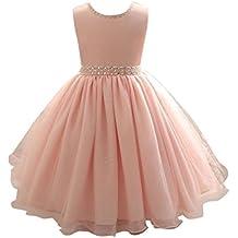 Sonnena vestido Elegante Rosa Boda Fiesta para Niña (1 a 7 Años) Vestido de