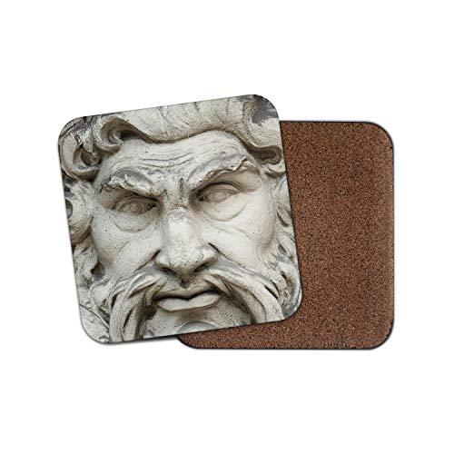 Zeus griechischer Gott Untersetzer – Mythologie Statue Griechenland Donner Geschichte Fun Geschenk #12553