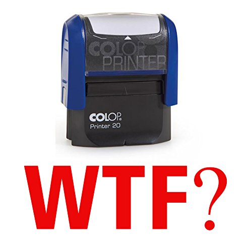 Selbstfärbestempel Neuheit Nachricht Stamp - WTF?Red Ink Stempel Colop Mini Stamper