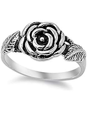 Ring aus Sterlingsilber - Blume -