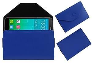 Acm Premium Pouch Case For Alcatel One Touch Flash Plus Flip Flap Cover Holder Blue