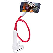 Soporte iPhone,Soporte Dock Base para Teléfono e Smartphones como iPhone 7 6s 6 plus 5s 5 4s 4, Nintendo Switch, Samsung S3 S4 S5 S6 S7 S8, Huawei,Accesorios, Mesa, Otras Smartphones - Rojo