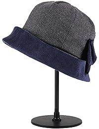 Categoría sombreros de mujer, Ms moda otoño/invierno cuchara Hat nuevo tapón de lana ,gris