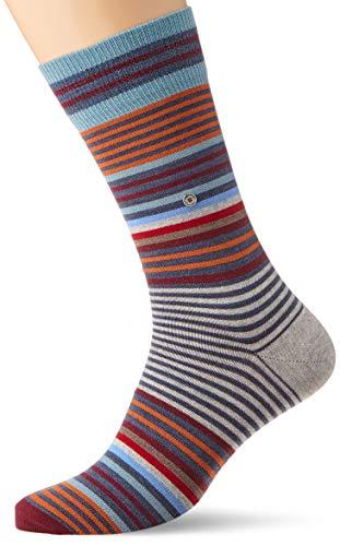 Burlington Herren Stripe Socken, Blickdicht, Blau (Dark Blue Melange 6688), 40-46 (Blue-stripe-socken)