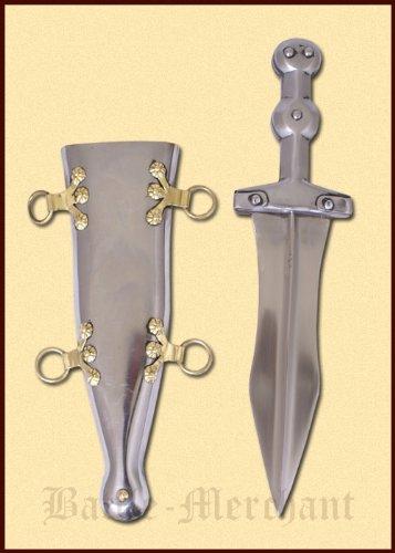 Stahl - handgeschmiedet- Dolch der Römer - Legionärsdolch (Römischer Dolch)