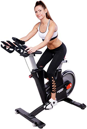 Miweba Sports Profi Indoor Cycling Bike MS600 Pro Ergometer Heimtrainer - App-Steuerung - Wirbelstrom Magnetbremse Pulsgurt