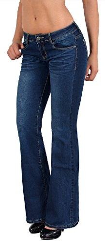by-tex Bootcut Jeans Damen Hüftjeans Jeanshose Damen Jeans in aktuellen Designs BB
