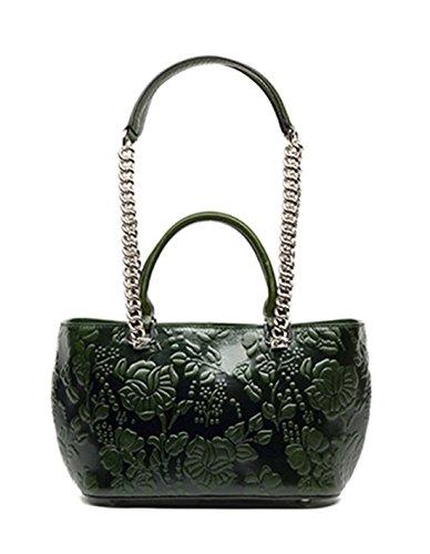 Leder Niedlich Damen Handtaschen, Hobo-Bags, Schultertaschen, Beutel, Beuteltaschen, Trend-Bags, Velours, Veloursleder, Wildleder, Tasche Grün Keshi