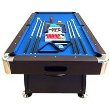 GRAFICA MA.RO SRL Mesa de Billar Juegos de Billar Pool 8 ft Modelo Vintage Azul Completo de Accesorios Carambola Medición de 220 x 110 cm EMBALADO
