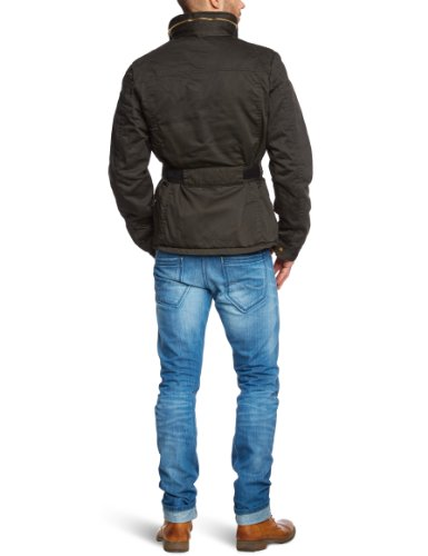Scotch & Soda Herren Jacke 12040810041-Half long jacket Schwarz (78 - olive)