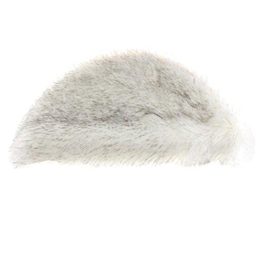 Homyl Weiche Künstliche Schaffell Teppich Bettvorleger Sofa Matte, in 9 Farben - Weiß und Grau