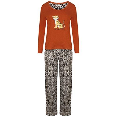 Ex Famous Store - Ensemble de pyjama - Femme Multicolore Bigarré rouille