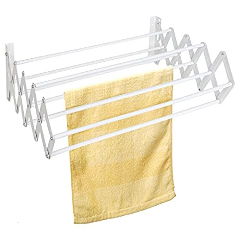 Top Home Solutions Wall Mounted Extendible Clothes Dryer Rack