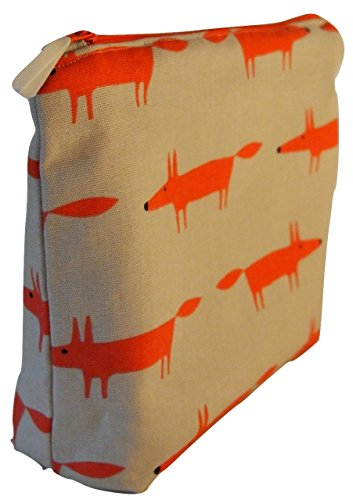 scion-little-fox-ginger-fabric-toiletry-bag-waterproof-lined-wash-bag-cosmetic-bag