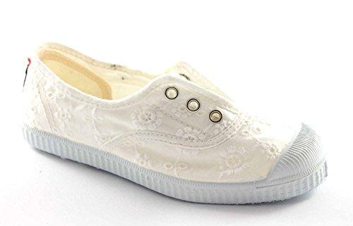 CIENTA 70998 21/27 bianco scarpe bambina elastico tessuto 27