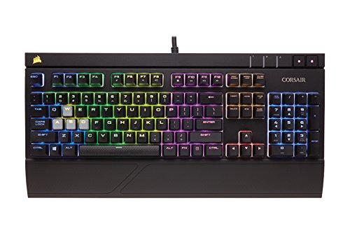 Corsair Strafe RGB USB Keyboard Black USB Keyboard (QWERTY, Playing, English, Wired PC/Server)