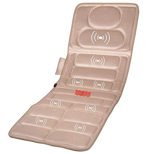 ZHHME Massagematte mit Wärmefunktion - Akupressur Massagegerät Massageliege Klappbar - 9-Vibrationsmotor-Matratze für Nacken, Rücken und Beine gegen Müdigkeit und Schmerzen
