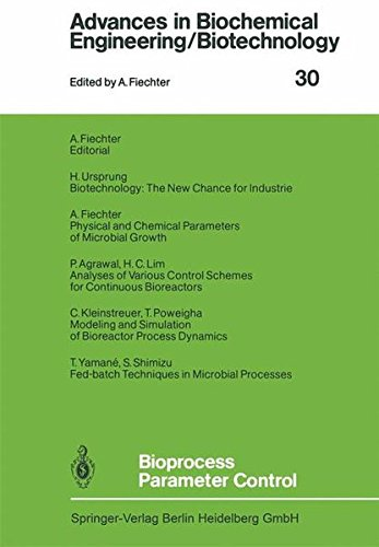 Bioprocess Parameter Control (Advances in Biochemical Engineering/Biotechnology)