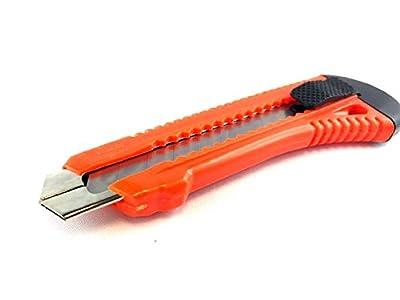 25 Stück Cuttermesser mit 18 mm Abbrechklingen mit Metallführung I Teppichmesser I sehr stabil und handlich I inkl. 1 Klinge pro Messer von EKeSys GmbH - TapetenShop
