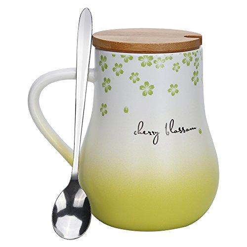 schenk für Mama,frauen,Muttertagsgeschenk,Muttertag Geschenke Beste Mama Kaffeetasse mit Deckel-Grün (Milch Karton Hat)