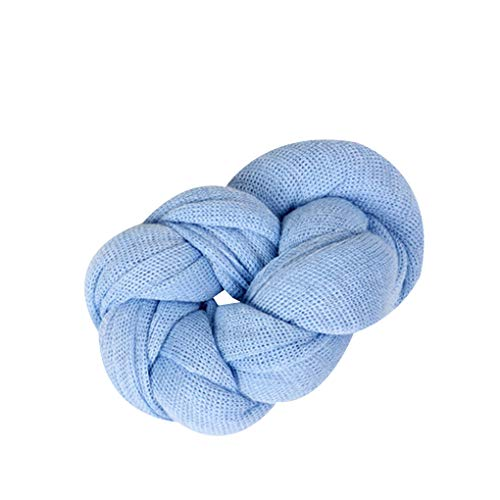 fish Stretch Knit Solide Wrap Baby-Fotografie Props Decke Infant Foto Shooting Basket Stuffer Swaddle Light Blue