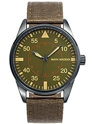 Mark Maddox HC0006-64 - Reloj de cuarzo para hombre, correa de poliuretano color marrón