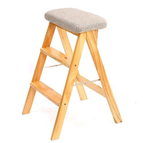DS Tritthocker Holz Trittleiter Leiter Für Erwachsene Küche Massivholz Klapp Trittleiter Tragbare Falten Fußbank Multifunktions Kleine Hocker Bank **