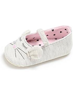 ESTAMICO Neugeborene Baby Mädchen Karikatur Katze Mary Jane Ballerina Krippe Schuhe