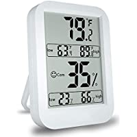 digitales Thermo-Hygrometer Innenraum-Thermometer und Feuchtigkeitsdetektor 4.5 Zoll LCD-Großbildschirmanzeige