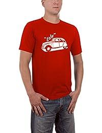 Touchlines Herren T-Shirt Ente 2cv Youngtimer Slimfit