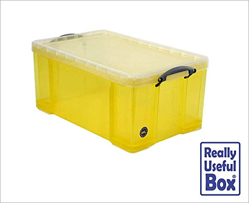 Really Useful Plastic 64 Litre Boxes, Assorted, Pack of 8 boxes, SUPER-DEAL