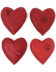 MC de Trend® Juego de 4calentadores de manos Corazón para manos calientes dedos contra frías en otoño y Invierno