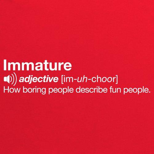Immature T-Shirt, Herren Rot