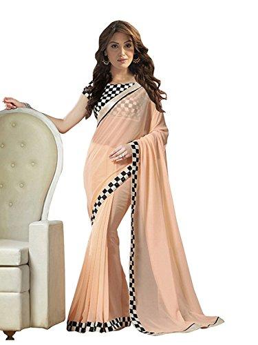 Minimall Women\'s Net Saree (MMS1010-06_Red_Free Size)