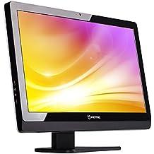 Hiditec Smart Pro - Barebón con diseño delgado y pantalla FULL HD, HDD, Micro ATX, ITX, 21.5 pulgadas, Serial ATA III, Lector de tarjetas SD y 2 puertos USB, color negro/blanco