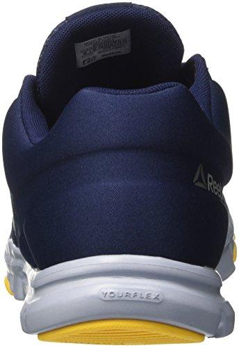 Reebok Bd5894, Chaussures De Sport Bleues Pour Hommes (collegiate Navy / Gable Grey / Retro Yellw / P)