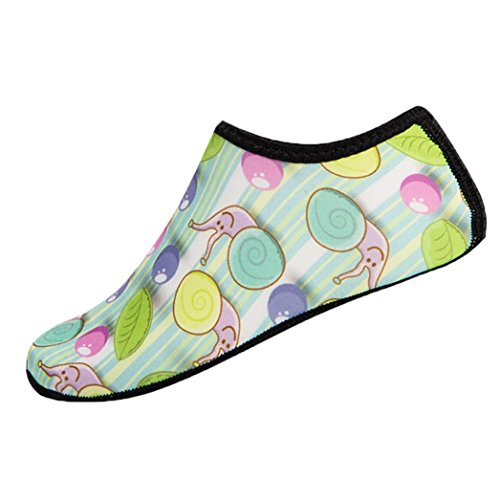 JERFER Unisex Enfants Jungen Mädchen Tauchfüßlinge Equator Barfuß Haut Schuhe Wasser Sport Socken Surf Schuhe Sandalen Schuhe Im Freienschuhe des Wasserparks (6-7T, Blau) (Haut-leder-schuhe)