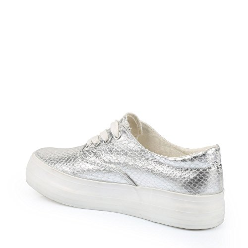Ideal Shoes – Sneaker Effekt Glitzer Betty Silber - silber ...