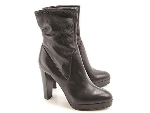 Stivaletti con tacco Sergio Rossi donna in pelle nero - Codice modello: A72040 MAF715 1000 - Taglia: 39 IT