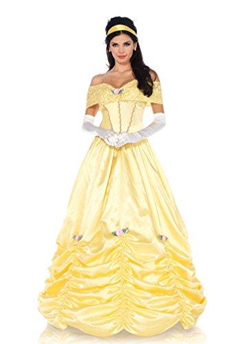 ,Karneval Klamotten' Kostüm Belle Märchen Prinzessin Dame Luxus Karneval Damenkostüm Größe (Für Kostüme Erwachsene Belle Prinzessin)